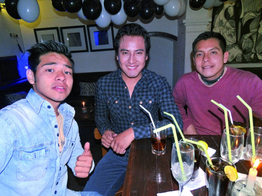 Pablo Betanzos, Grover Murillo, Harvy Salvatierra.
