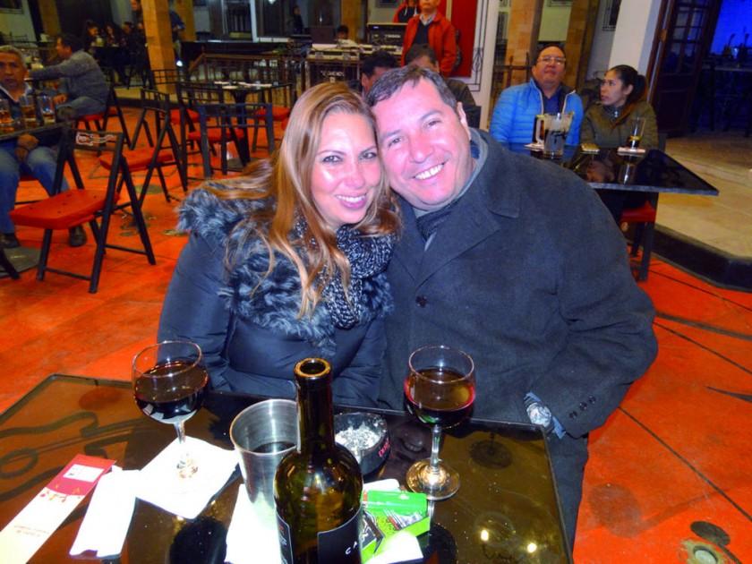 Karina Eguez y Juan Carlos Rojas.