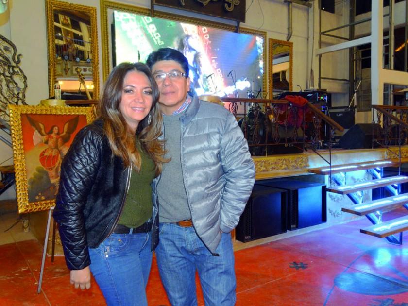 Roxana Aprili y Richard Núñez.