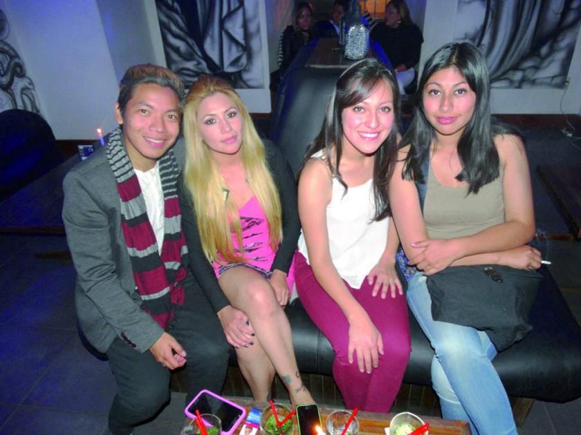 Jay Chávez, Marcela Ortiz, Brenda Álvarez  e Isabel Villegas.