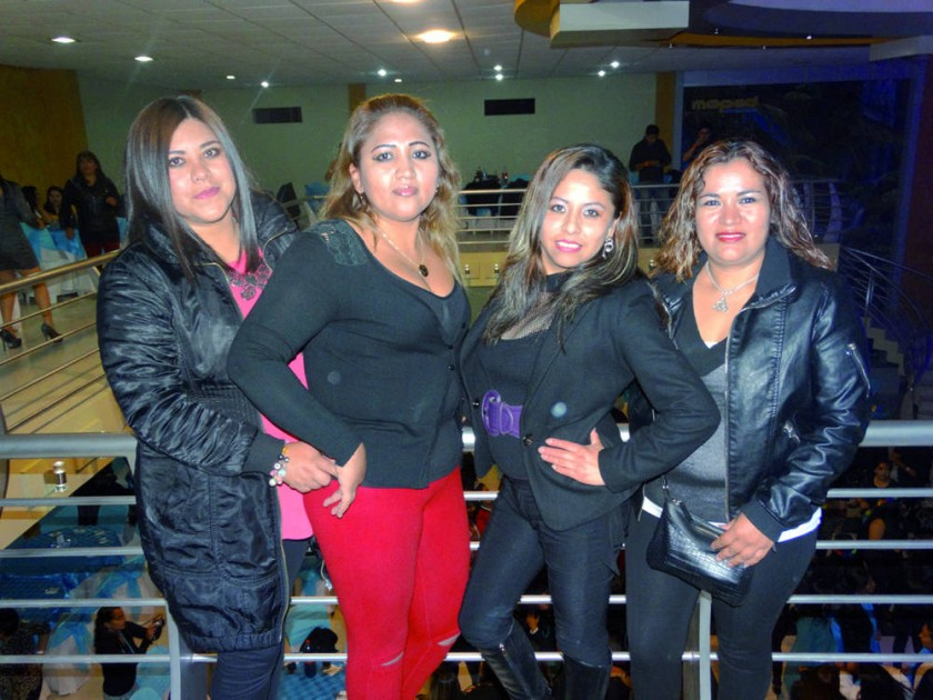 Karen Vargas, Maritza Bravo, Vania Flores y Verónica Frías.