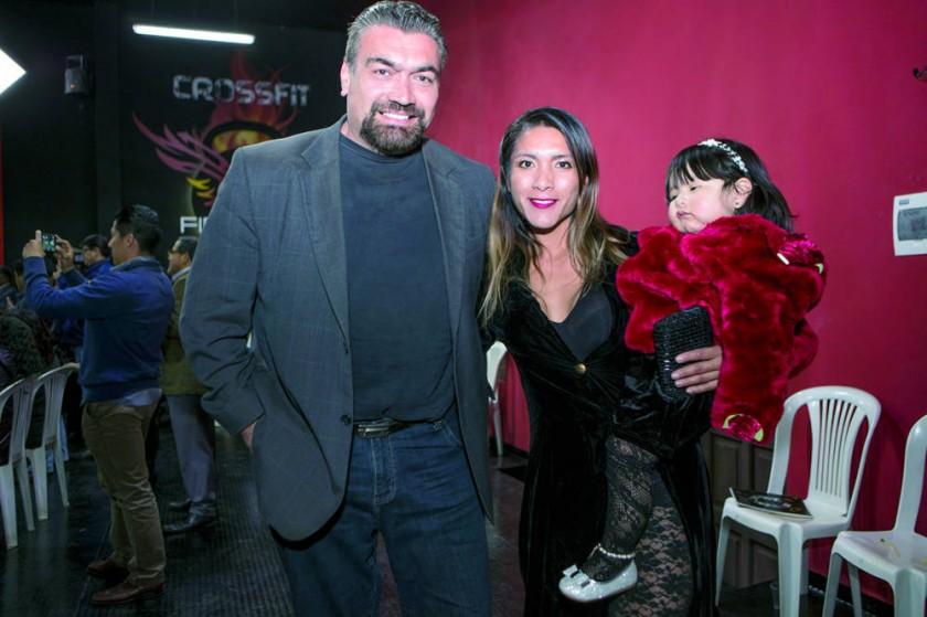 Rafo Rodríguez, Janeth Palacios y Yeudin Roso.