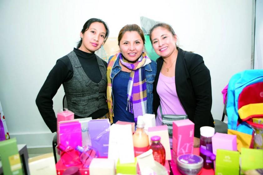 Fabiola Fernández, Ximena Velásquez y Ana Hinojosa.