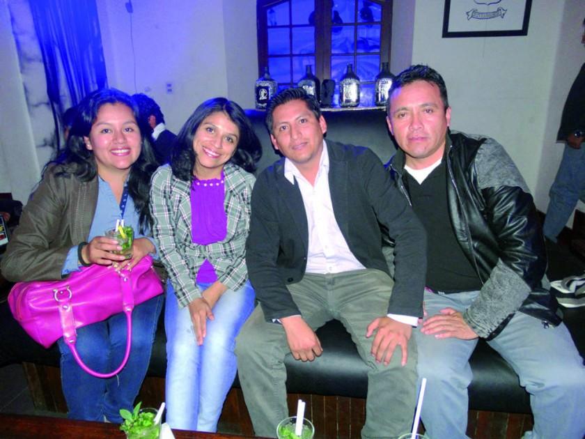 Maritza, Carmiña, Daniel y René.