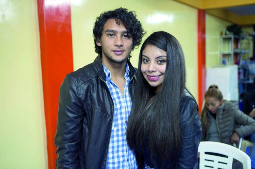 Paul Díaz y Adriana Delgadillo.