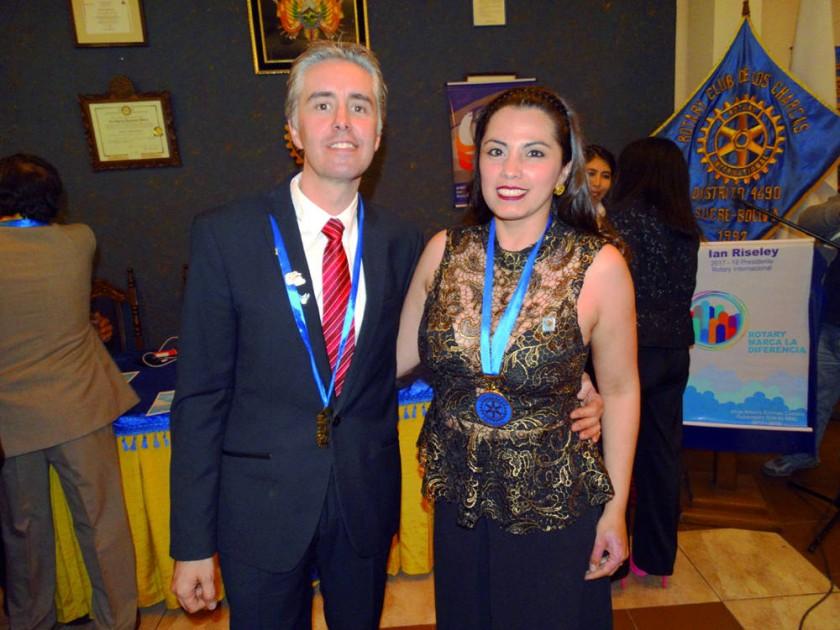 Rotary Club Chuquisaca: Cyril Lottici y Susana Valda.