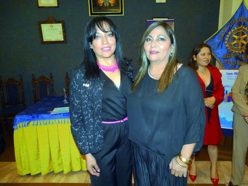 Comité de Damas Rotarias: Lizeth Castro y Patricia Marañón.