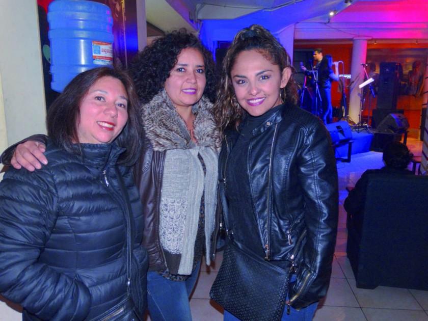Claudia Villafani, Ilsen Vedia y Tatiana Padilla.