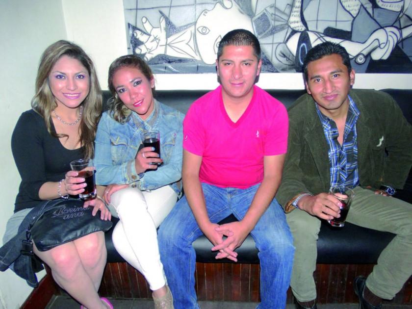 Ivana Espada, Odalis Guzmán, Henry Rojas y Aldo Michel.
