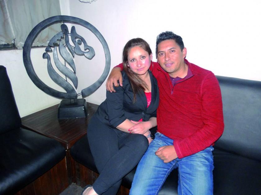 Mayra Liendo y Cristian Díaz.