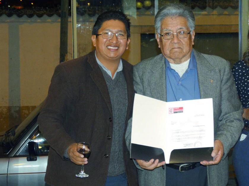 Richard Calcina y Carlos Aliaga.
