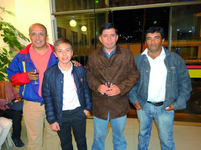Juan Pablo Pacheco, Flavio Gorena, Nelson Aliaga y Pablo Barrón.