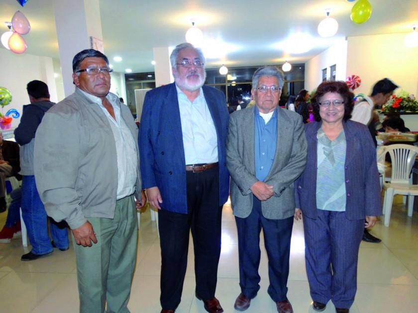 Francisco Serrudo, Mario Aliaga, Carlos Aliaga y Rosario Aliaga.