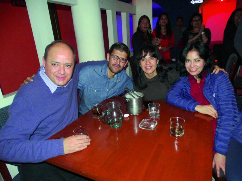Jorge Zamora, Franco Bohórquez, Ximena Ortiz  y Marcela Ortiz.