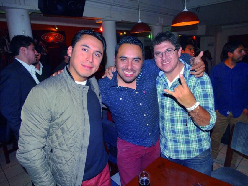 Gunnar Suarez, Chrstian Suarez y Juan Víctor Sandy.