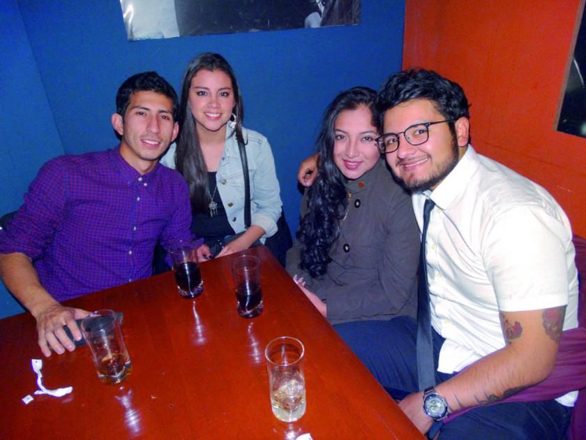 Alejandro Barrón, Gaby Acebey, Emilse Rocha  y Ronald Encinas.