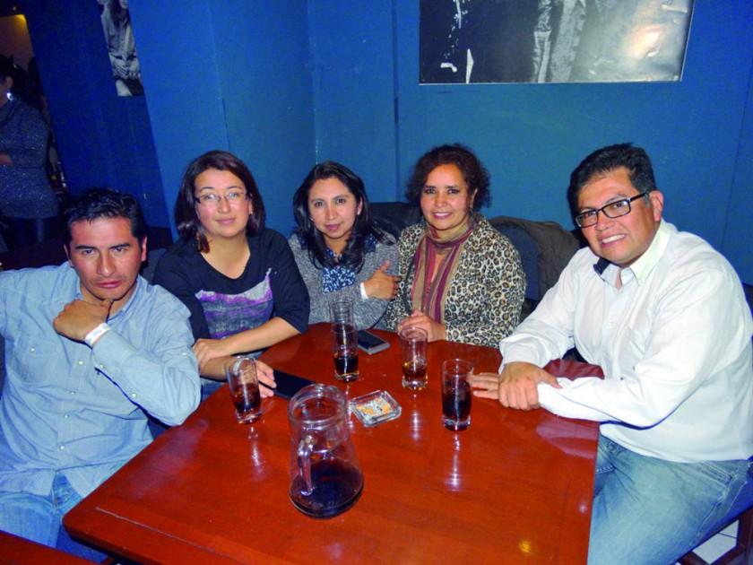 Iván Prudencio, Roxana Fortún, Paola Farfán, Ilsen Vedia  y Marcelo Aguirre.