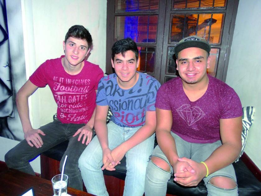 Nicolás Maldonado, Antonio Miranda y Amado Sierra.