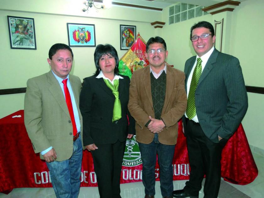 José Luis Ruelas, Jael Flores, Pascual Yampa  y Milton Marquiegui.