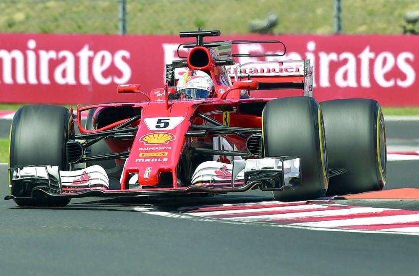 El piloto Sebastian Vettel fue el más rápido en las pruebas de clasificación.