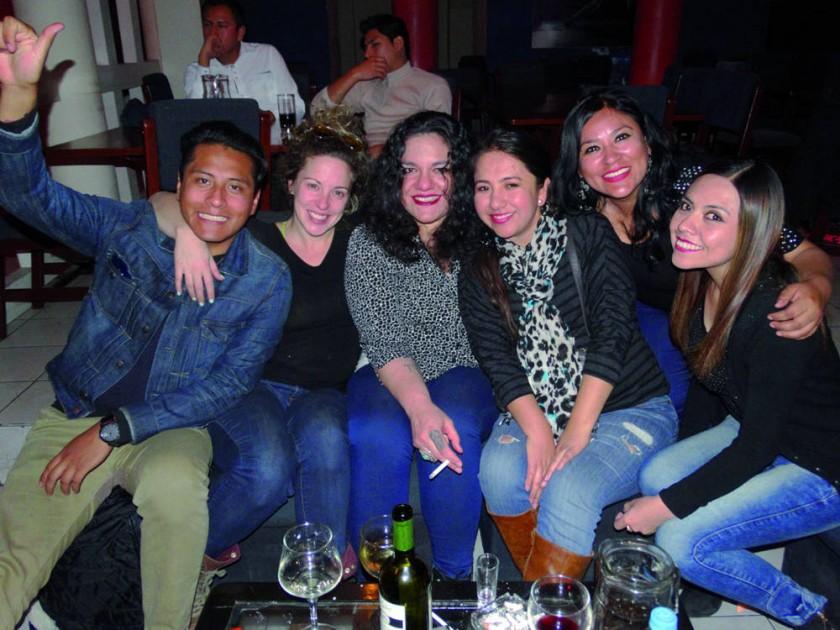 Carlos y Carla Arancibia junto con Alejandro Andrade y Lyanne Peñaranda.