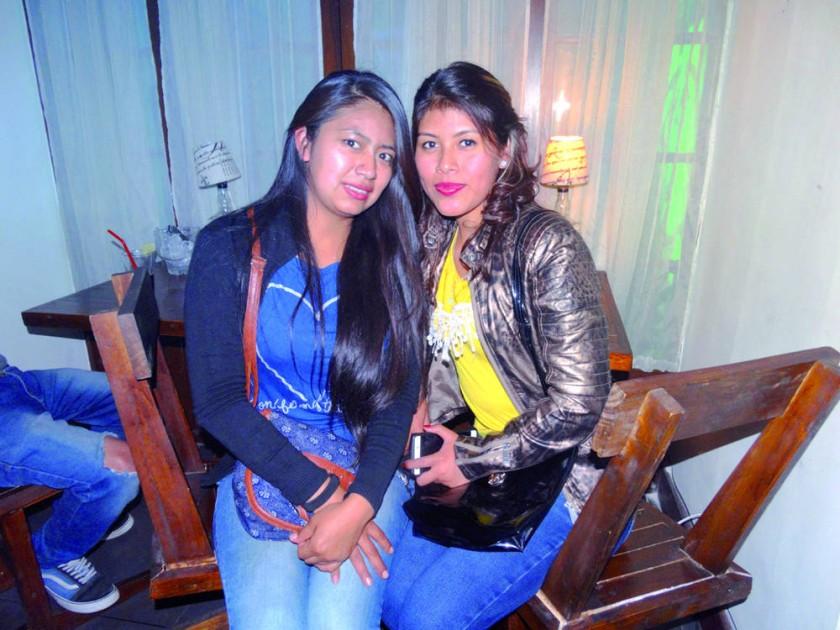 Mery Bejarano y Aleidy Ortiz.