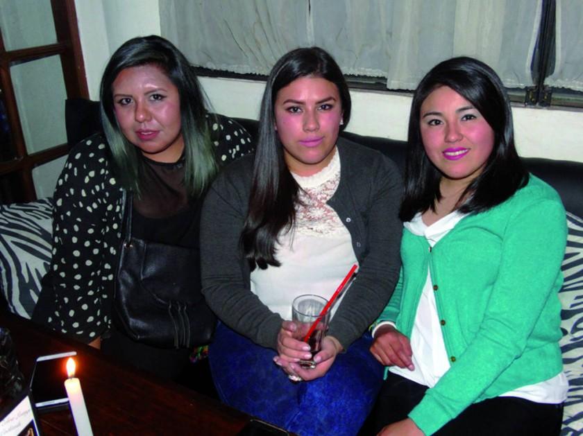 Denisse Espada, Daniela Vargas y Valeria Cazón.