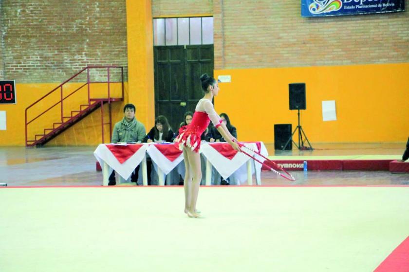 La sucrense Laura Navarro fue la ganadora en gimnasia rítmica.