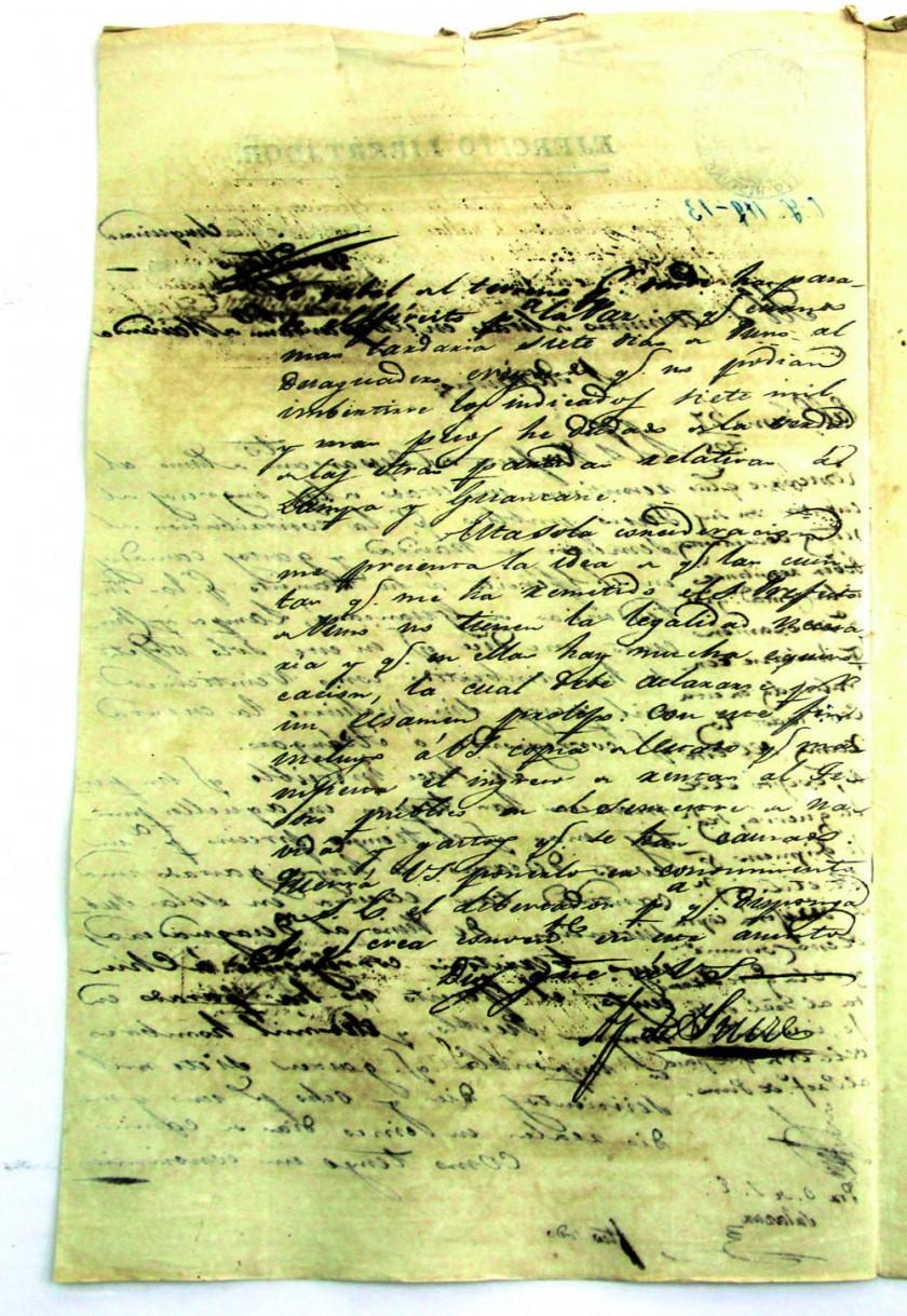 MENSAJE. Las misivas escritas por el mariscal Antonio José de Sucre con destino a Lima, el 25 de mayo de 1825.