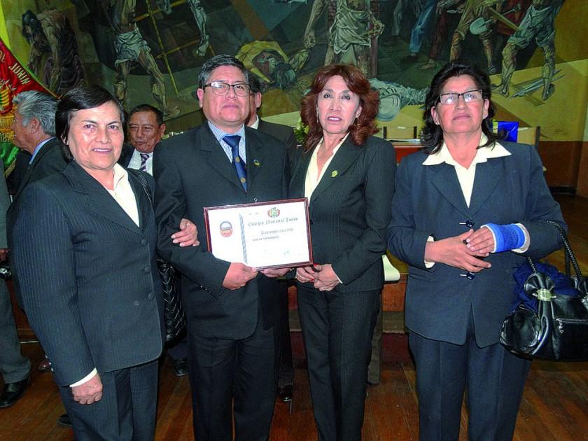 Yolanda Amador, Asbley Fernández, Balbina Tamayo  y Edilberta Zamorano.