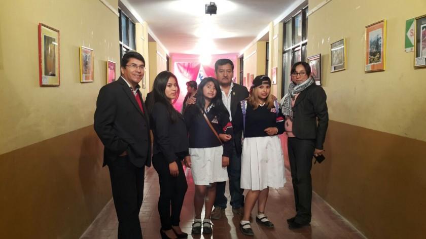 Eloy Flores, Jhoselín Villca, Evelín Serrudo, Jorge Encinas, Adalia Caba  y Sonia Cruz.