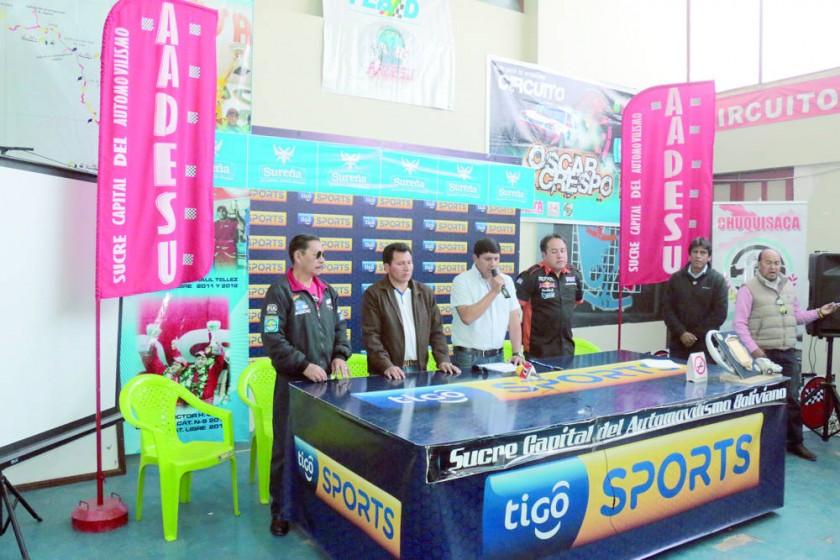 Dirigentes de la Asociación de Automovilismo Deportivo Sucre y representantes de Monteagudo presentaron ayer la...