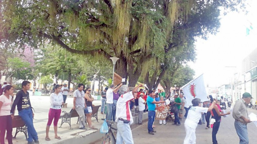 PROTESTA. Una manifestación en Santa Cruz.