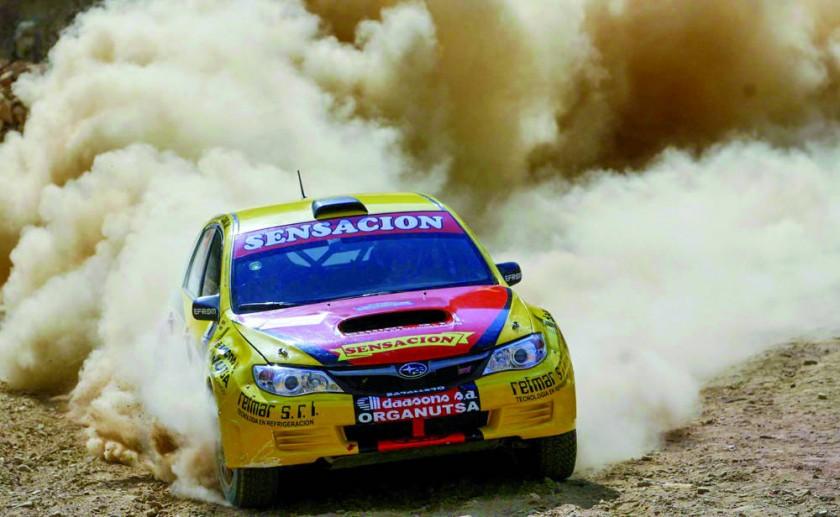 El argentino Raúl Martínez, el más rápido del Rally Sucre.