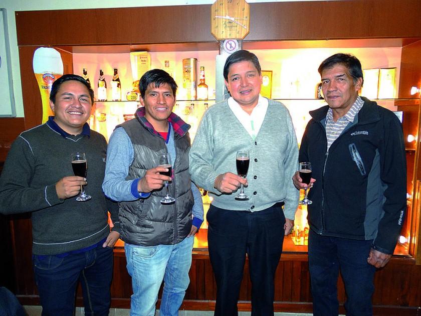 Cristian Cervantes, Freddy Melcón, Juan Pablo Donoso  y Pedro Cuellar.