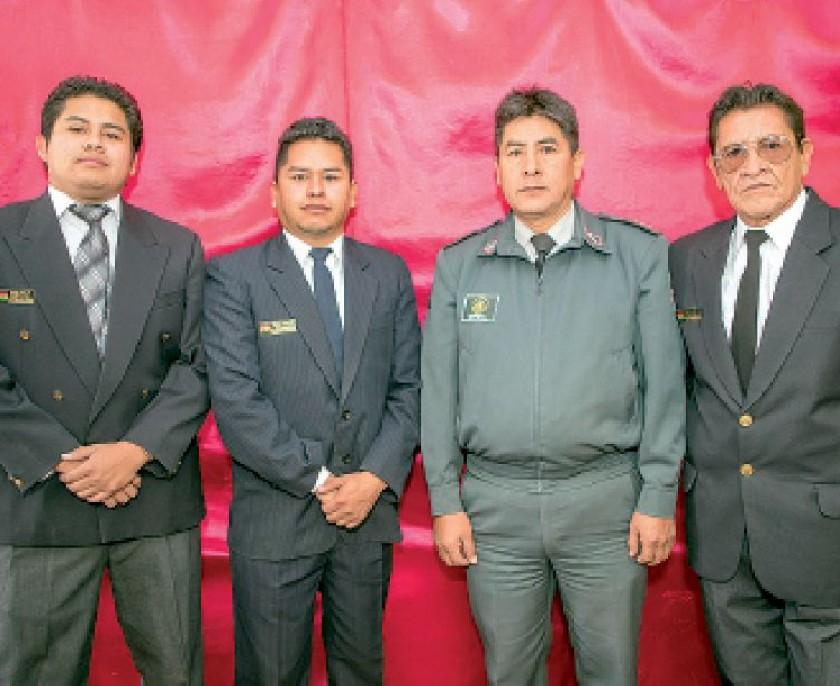Cristian Lima, Eduardo Martínez, Sof. José Herrera y Antonio Rojas.