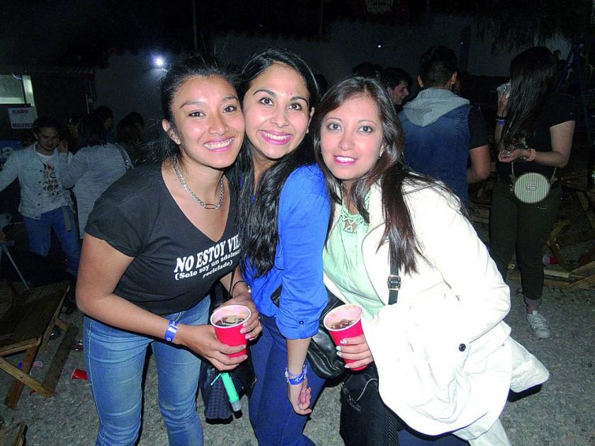 Nayra León, Amanda Gorena y Laura Leaño.