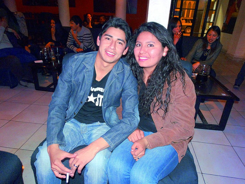 Walter Flores y Laura Arancibia.