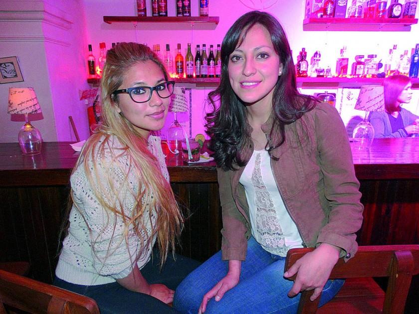 Mariela Ortiz y Brenda Álvarez.