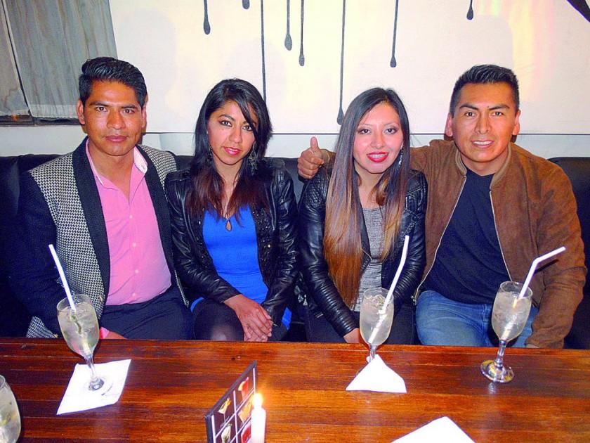 Edgar Yucra, Marilin Agreda, Karina Arciénega y Freddy Zárate.
