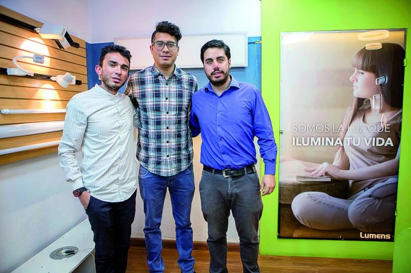 Personal Lumens: Dalibor Aranda, Amin Azad y Alfredo Zambrana.