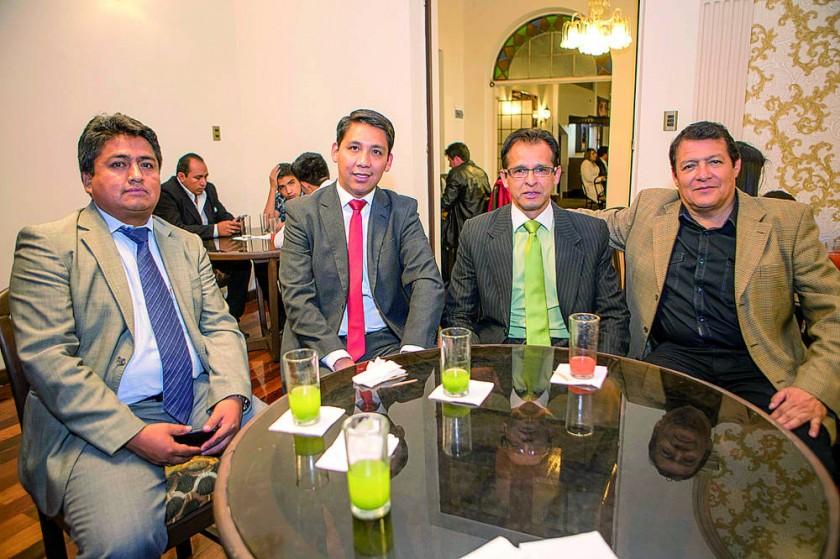 Dorian Ortuste, Ariel Romero, Edwin Pacheco y Javier Durán.
