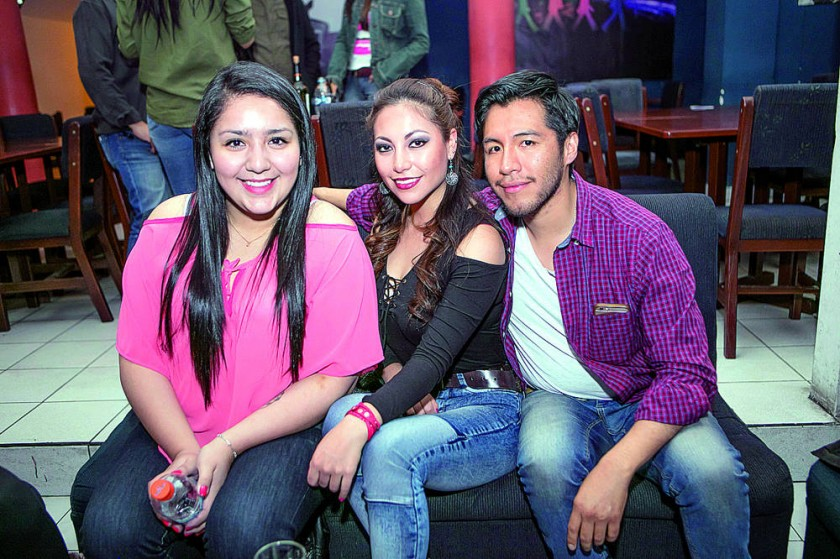 Alejandra Prudencio, Guisela Garvizu y Daniel Mallea.