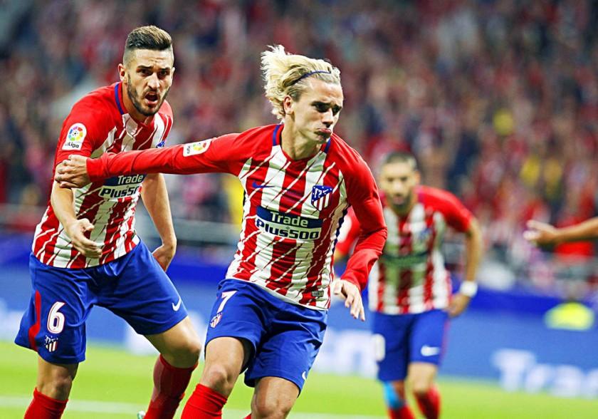 Azulgranas y rojiblancos celebraron ayer en la Liga española.