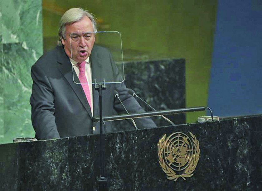 SECRETARIO. António Guterres.