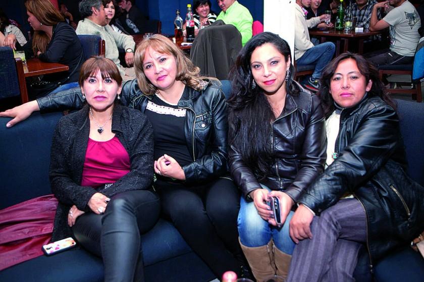 María Elena Delgadillo, Carmen Varela, Fabiola Villavicencio y Janeth Vaca Guzmán.