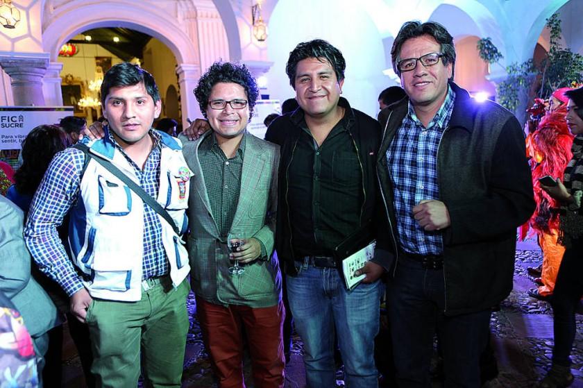 Adalid Llanquipachi, Gustavo Orihuela, Pedro Salazar  y Jaime Robles.