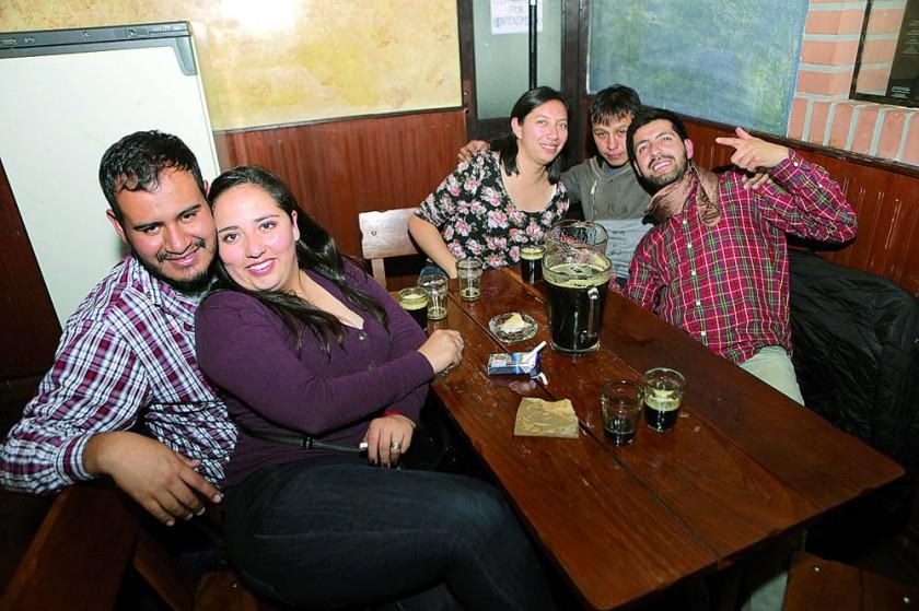 Carla, Alfredo, Dani, Carlos y David.