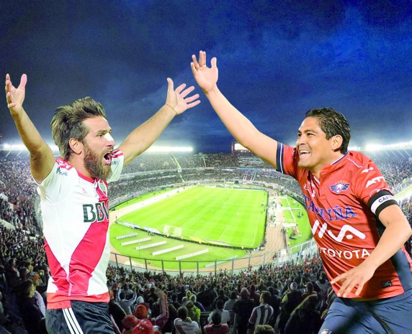 Leonardo Ponzio de River Plate y Edward Zenteno de Wilstermann liderarán a sus equipos en la revancha.