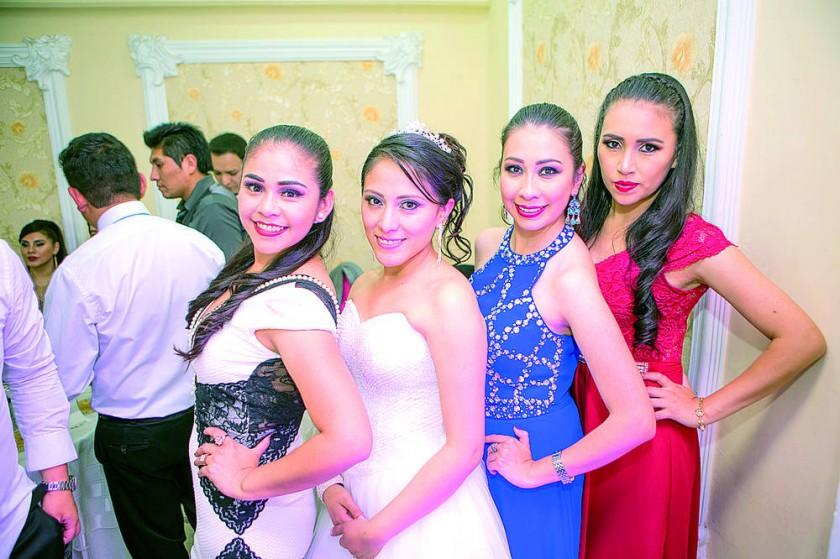Andrea Salazar, Leslie Cárdenas, Lorena Casso y Scarleth Jesús.